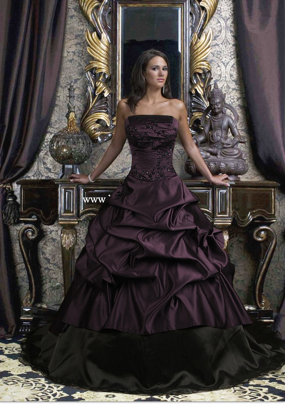 Dark Wedding Dresses